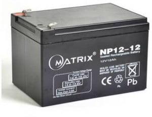 2 x 12v 12amp battery