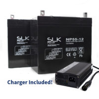 55ah batteries and charger