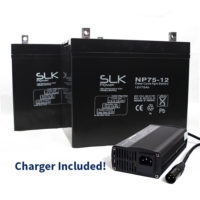 75ah batteries and charger